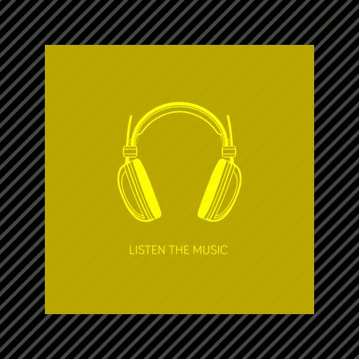 handsfree, headset, listen, music, outline icon