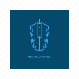 game, gamer, gaming, mouse, outline icon