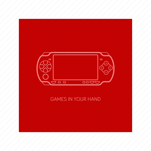 game, outline, playstation, psp icon