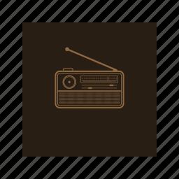 broadcast, music, news, outline, radio icon