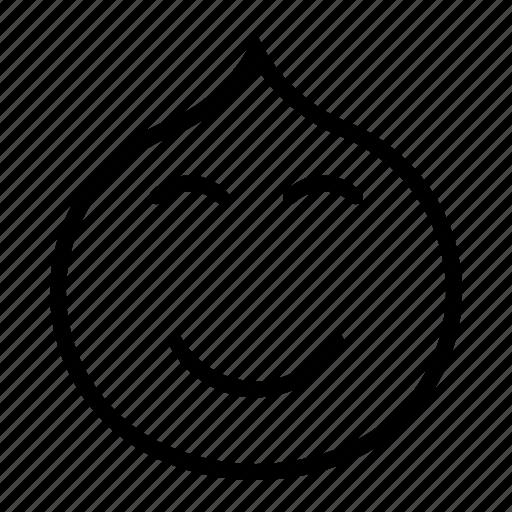 chuckle, close, emotion, eye, face, smile icon
