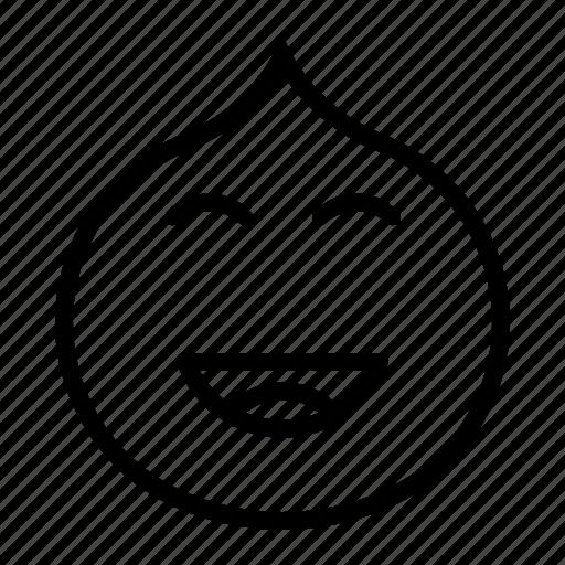 close, emotion, eye, fun, happy, laugh icon