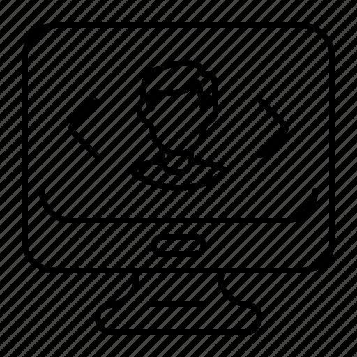 codding, development, monitor icon