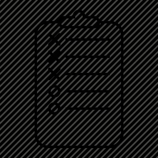 checklist, todo list icon