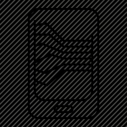 mobile analytics icon
