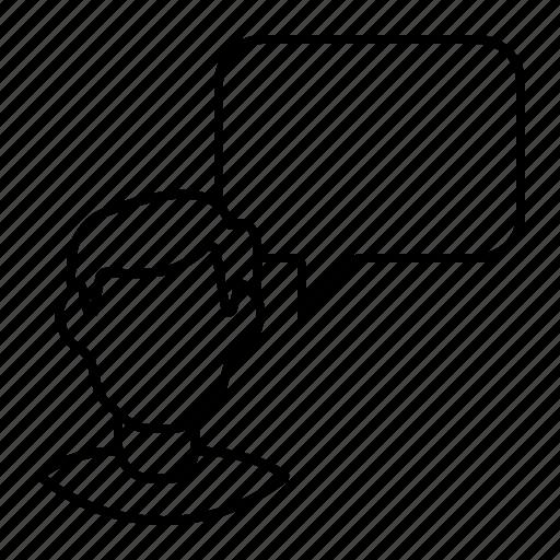 meeting, speech icon