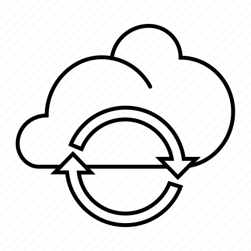 cloud, share, sync icon
