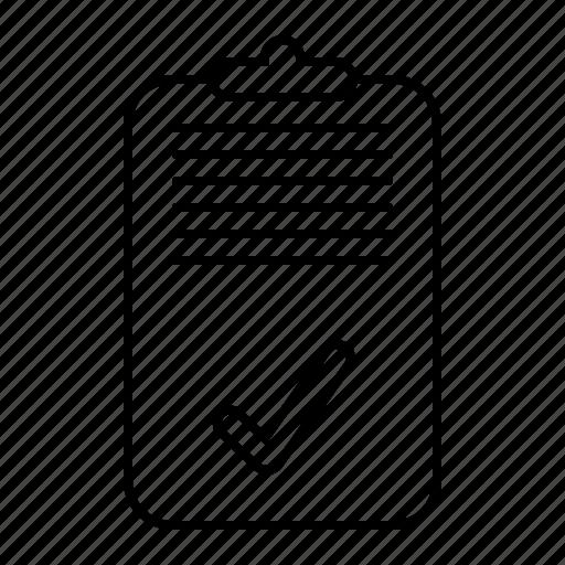 checklist, done icon