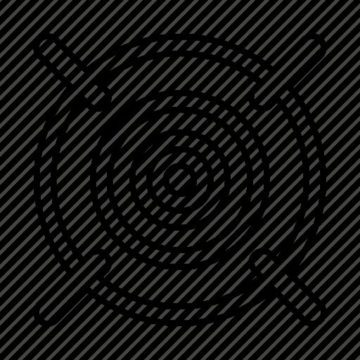 aim, bullseye, purpose, target icon