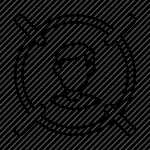 audience targeting, target icon