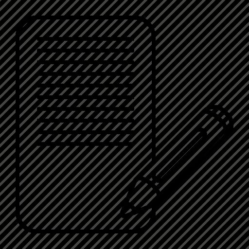 content, pencil, text, write icon