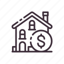 building, buy, home, house, money, real estate, sale icon