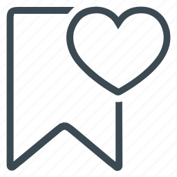 book, bookmark, document, favourite, heart, mark icon