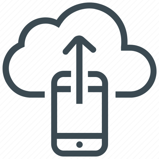cloud, cloud computing, data storage, mobile, share, sharing, smartphone icon