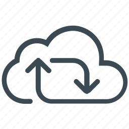 cloud refresh, cloud sync, sharing, sync, update icon