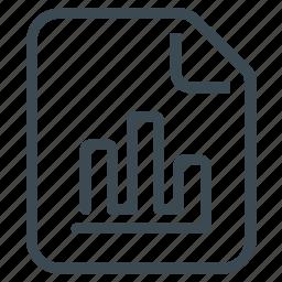 analytics, bar chart, file, report, statistics icon