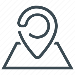 direction, location, map, marker, pointer icon