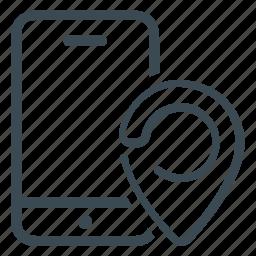 gps, location, marker, mobile, mobile navigation, navigation icon