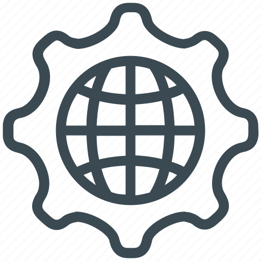 gear, global, global network, network, option, settings icon