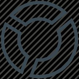 analytics, bar, pie chart, report, statistics icon