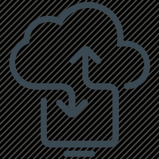 cloud computing, cloud drive, cloud storage icon