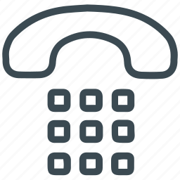 call, dial, landline, phone, telephone icon