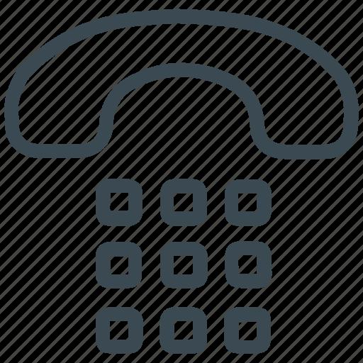 dial, landline, phone, telephone icon