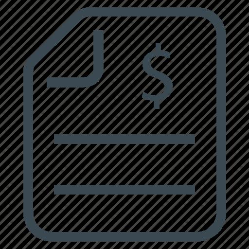 `invoice, bill, financial statement, report icon