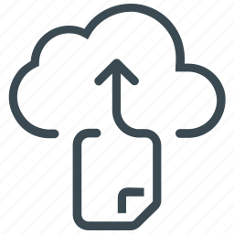 cloud, document, file, file sharing, storage icon