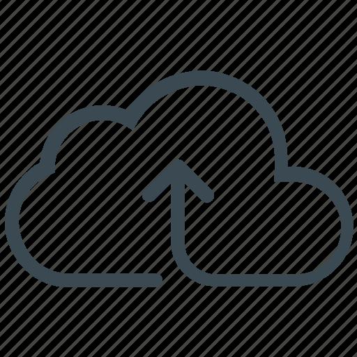 arrow up, backup, cloud, cloud upload, upload, uploading icon