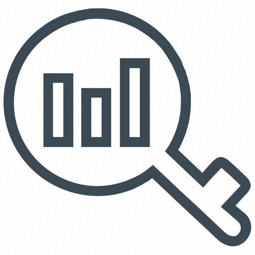 analysis, analytics, keyword, keyword analytics, research, statistics icon