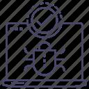 anti virus, insect, scan, virus icon