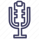 microphone, music, recording, studio icon