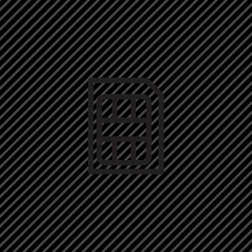 interface, sim, simcard, ui, user icon