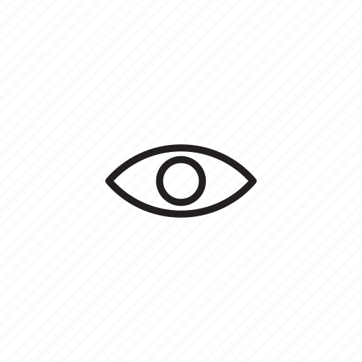 eye, interface, ui, user icon