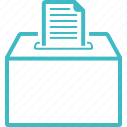 application, box, elections, entry, submission, vote icon