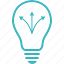 idea, multiple way, strategy icon