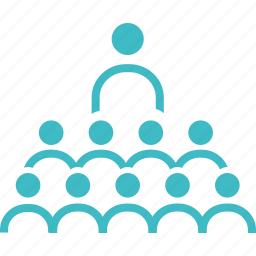 community, group, leader, training icon