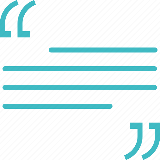 quotation, quote, testimonial icon