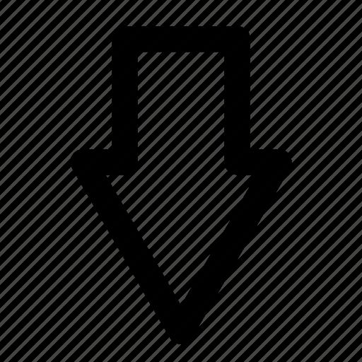 arrow, down, point icon