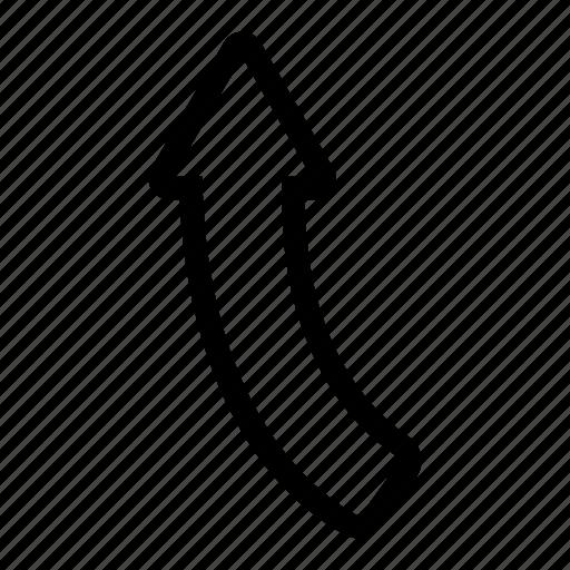 arrow, point, straight, turn, turn left icon