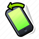 device, iphone, left, phone, smartphone, tilt icon