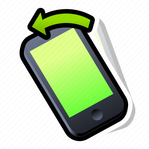 Device, iphone, left, phone, smartphone, tilt icon - Download on Iconfinder