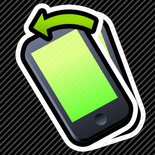 device, iphone, left, phone, smartphone, tilt icon