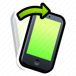 device, iphone, phone, right, shake, smartphone, tilt icon