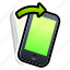 device, iphone, phone, right, shake, smartphone, tilt icon