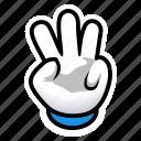 gesture, hand, signs, third, three