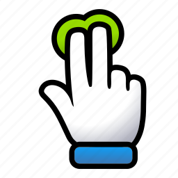double, gesture, hand, signs, touch icon