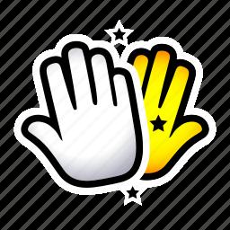 clap, gesture, hand, hi5, signs, slap icon