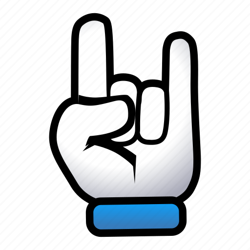 gesture, hand, metal, on, rock, signs icon
